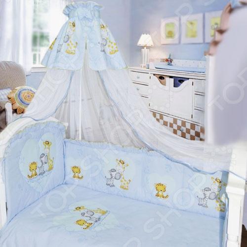 фото Комплект в кроватку Золотой Гусь «Сафари», Постельные принадлежности для новорожденных