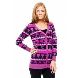 фото Кардиган Mondigo 9876. Цвет: ярко-сиреневый. Размер одежды: 44