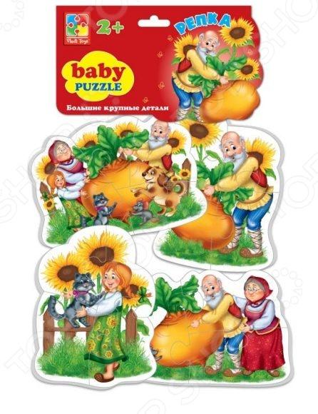 Пазл мягкий Vladi Toys «Сказки. Репка» пазлы vladi toys пазлы мягкие baby puzzle сказки репка