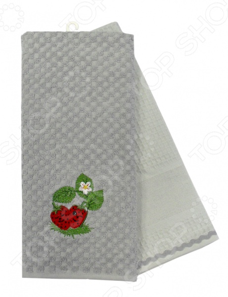 Комплект из 2-х махровых вафельных полотенец BONITA «Клубника» комплект из 2 х фартуков bonita дочки матери
