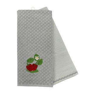 Купить Комплект из 2-х махровых вафельных полотенец BONITA «Клубника»