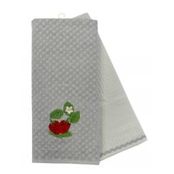фото Комплект из 2-х махровых вафельных полотенец BONITA «Клубника»