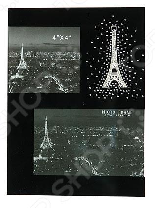 Фоторамка «Ночной Париж» 138453Фоторамки. Держатели<br>Фоторамка Ночной Париж 138453 это оригинальный и стильный аксессуар, который станет не только украшением вашего интерьера, но и позволит надолго сохранить память о самых счастливых и знаменательных моментах вашей жизни. Поместите красивое фото в рамку и расположите ее на самом видном месте, чтобы любоваться пейзажем или любым другим изображением. Представленная модель может стать замечательным подарком или сувениром для ваших друзей и близких. Правила ухода: регулярно вытирать пыль сухой, мягкой тканью.<br>