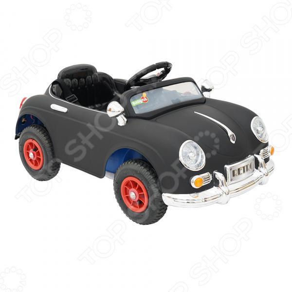 Электромобиль детский Babyhit RetroДетские электромобили<br>Электромобиль детский Babyhit Retro подарит ребенку огромное количество положительных эмоций, ведь он станет обладателем собственного средства передвижения. Это миниатюрное авто практически ничем не отличается от своего настоящего собрата : оно восхитит ребенка множеством мелких деталей, реалистичным дизайном, а также звуковыми и световыми эффектами. Электромобиль представлен в оригинальном ретро-дизайне, который обязательно понравится и мальчикам, и девочкам. Ваше чадо с радостью сядет за руль и отправится в мини-путешествие по улицам города конечно же, под вашим чутким присмотром! А звуковые и световые эффекты сделают поездку еще более веселой и захватывающей. Количество редукторов 2, мощность редукторов 20 Вт. Аккумуляторы 6В 2 штуки . Управление автомобилем осуществляется при помощи дистанционного пульта. Максимальная скорость движения 6 км ч. Максимальный вес ребенка 25 кг.<br>