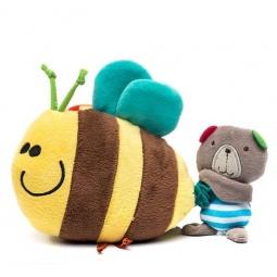 фото Игрушка подвесная 1 Toy «Серый мишка с пчелкой»