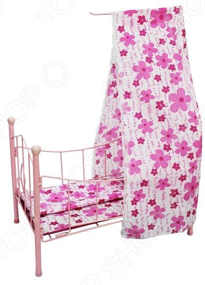 Кроватка для кукол Shantou Gepai с балдахином PH944Коляски и люльки для кукол<br>Кроватка для кукол Shantou Gepai с балдахином PH944 станет отличным подарком для вашей любимой доченьки и прекрасно подойдет для игр в дочки-матери. Такие игры не только увлекательны, но и весьма познавательны для ребенка, способствуют развитию воображения и когнитивного мышления. Дети учатся выстраивать отношения с окружающими, формируют шкалу ценностей и примеряют на себя различные социальные роли. Кроватка имеет прочную конструкцию, выполнена из высококачественных материалов и снабжена розовым балдахином. Подходит для кукол среднего размера.<br>