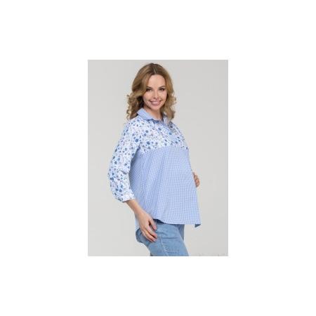Купить Рубашка для беременных Nuova Vita 1360.03N.V. Цвет: голубой