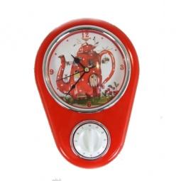 фото Часы настенные с таймером Феникс-Презент «Сказочный чайник»