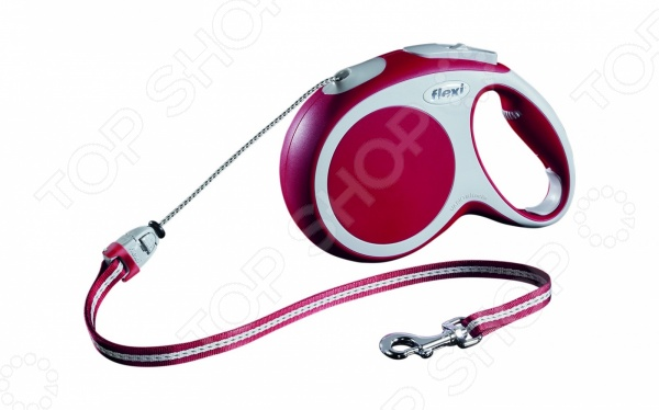 Поводок-рулетка Flexi VARIO M. Цвет: красный поводок рулетка flexi vario l цвет красный