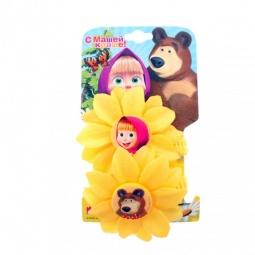 фото Резинка для волос Маша и Медведь «Цветок». Цвет: желтый