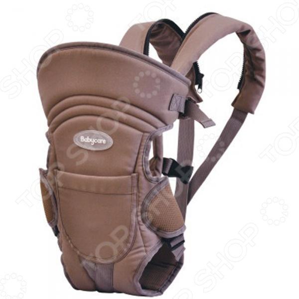 Рюкзак-кенгуру Baby Care HS-3184-CСумки. Слинги. Переноски<br>Рюкзак-кенгуру Baby Care HS-3184-C предназначен для ношения детей в возрасте от 1 месяца до 2,5 лет. Практичный и легкий рюкзак обеспечивает корректную поддержку ребенка благодаря эргономичной форме. Модель рассчитана на детей весом до 15 кг. Благодаря удобной конструкции, малыша можно располагать лицом к носящему и спиной к носящему. Кенгуру оснащен высокой жесткой спинкой и регулируемыми по всей длине ремнями. Рюкзак-кенгуру сделан из мягкого и довольно крепкого материала, который создает прохладу и комфорт для малыша. Эффективно отводит тепло и влагу от тела ребенка.  Легко трансформируется в слинг.  Стирается в машине при 30 градусах.  Легко складывается и занимает мало места. Такой рюкзак дает возможность родителям вести активный образ жизни. Посадив малыша в кенгуру вы можете ездить с ним в транспорте, посещать магазины и выставки, гулять и проходить в тех местах, где не проедет громоздкая коляска. Не требует особого ухода и легко стирается в теплой мыльной воде.<br>