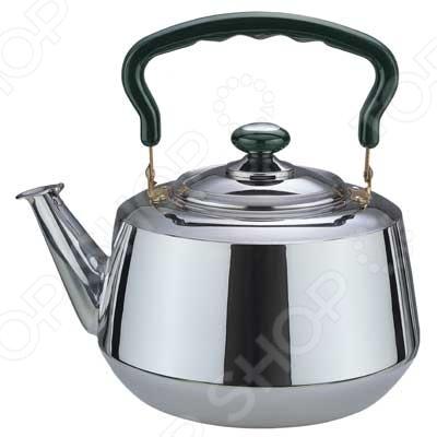 Чайник металлический Bekker BK-S361MЧайники со свистком и без свистка<br>Чайник металлический Bekker BK-S361M это объемный чайник на 4 л, который сделан из нержавеющей стали. На носик чайника можно прикрепить свисток. Ручка пластиковая, оснащена специальным участком, за который удобно брать. Крышка выполнена в одном дизайне с чайником. Можно отметить следующие преимущества подобного чайника по сравнению с электрическими:  быстрый нагрев воды;  большой объем;  долговечность покрытия;  расходы на подогрев воды намного меньше;  гигиеничность, благодаря металлическому корпусу.<br>