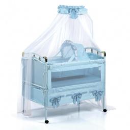 фото Кроватка-трансформер детская Geoby 05TLY668R. Цвет: голубой
