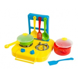фото Игровой набор: кухонная плита и посуда Тигрес 39150. В ассортименте
