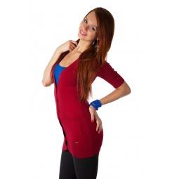 фото Кардиган Mondigo 9434. Цвет: бордовый. Размер одежды: 42