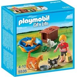 фото Конструктор игровой Playmobil «Ветеринарная клиника: Семья кошек с корзинкой»