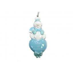 Купить Елочное украшение Crystal Deco «Снеговик» 1707831