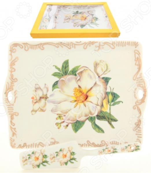 Поднос с лопаткой Elan Gallery «Белый шиповник» лимонницы elan gallery подставка под лимон белый шиповник