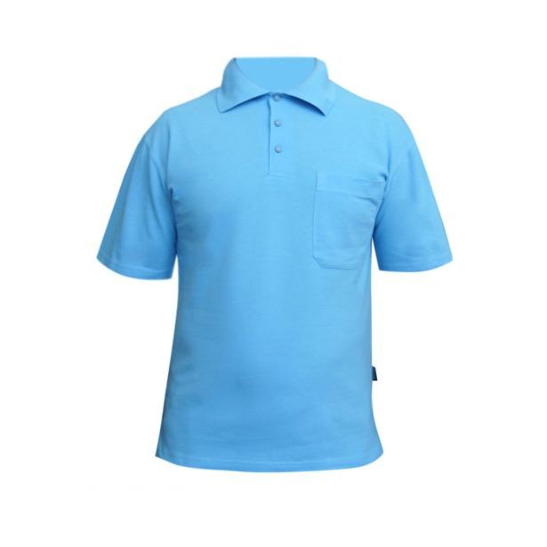 фото Поло мужское Dodogood М287. Цвет: голубой. Размер одежды: 46