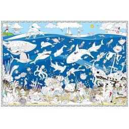 фото Раскраска-карта Геодом «Подводный мир»