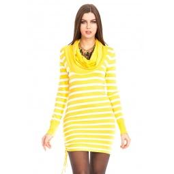 фото Туника вязаная Mondigo 9756. Цвет: желтый. Размер одежды: 44