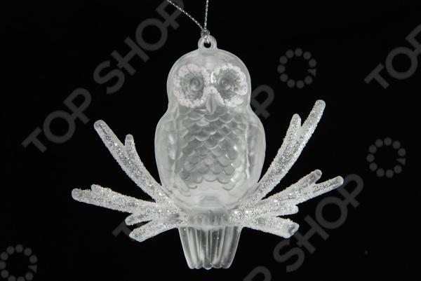 Елочное украшение Crystal Deco «Сова на веточке»