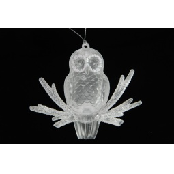 Купить Елочное украшение Crystal Deco «Сова на веточке»