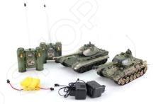 Набор на радиоуправлении Пламенный Мотор «Танковый бой. Т-34 (СССР) - GERMANY KING TIGER (Германия)» набор танков на радиоуправлении abtoys танковый бой 552 масштаб 1 64 2 шт