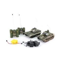 фото Набор на радиоуправлении Пламенный Мотор «Танковый бой. Т-34 (СССР) - GERMANY KING TIGER (Германия)»
