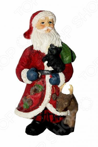 Елочное украшение-подвеска Crystal Deco «Санта с друзьями»