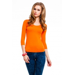 фото Кофта Mondigo 023. Цвет: оранжевый. Размер одежды: 46