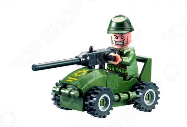 Игровой конструктор Brick «Танк» 830Игровой конструктор Brick Танк набор деталей с помощью которых можно будет собрать игрушечную модель танка. В набор входят 28 деталей, выполненных из качественного материала с хорошей обработкой. В комплект также входит фигурка человечка. Конструктор позволит развить мелкую моторику рук ребенка, логическое мышление, а также раскрыть фантазию. Набор подходит для десткого творчества и различных сюжетов игры. Изготовлен из качественного пластика.<br>
