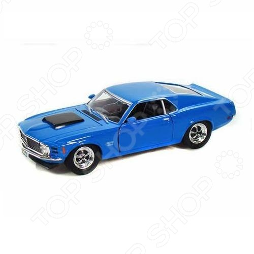 Модель автомобиля 1:24 Motormax Ford Mustang Boss 429 1970 1 18 ford 1967 mustang gta fastblack car black and green zinc alloy car model diecast for collection boys toys gifts