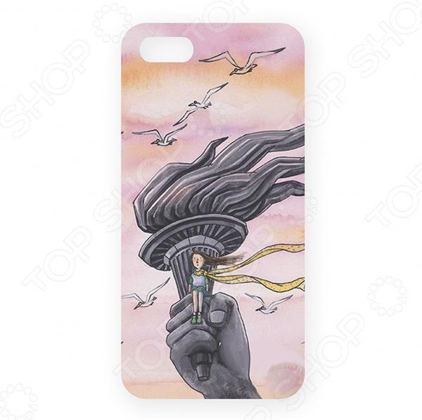 Чехол для iPhone 5 Mitya Veselkov «В розовых облаках»