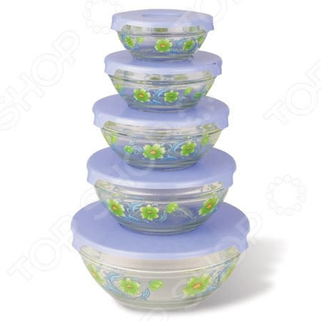 Набор салатников Irit «Летние цветы» набор салатников с крышками oursson bs 4781 rc dc page 3