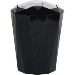 фото Ведро для мусора Spirella Crystal. Цвет: черный