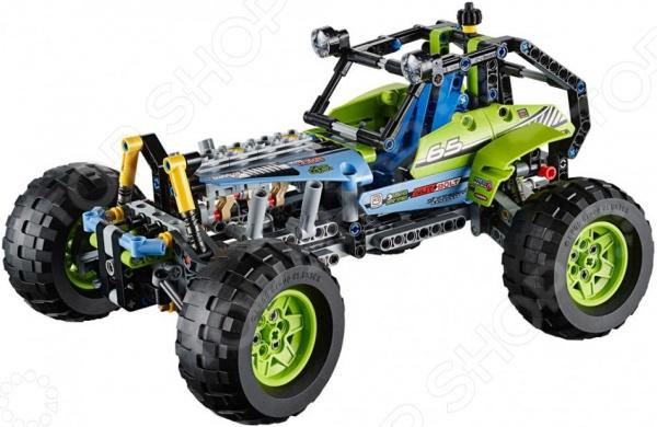 Конструктор LEGO ВнедорожникКонструкторы LEGO<br>Конструктор Lego Внедорожник представляет собой конструктор для детей, в котором найдутся все необходимые детали для создания моделей с картинки. Маленькие детали подойдут для детей старше девяти лет, они отлично различимы для ребенка и он точно поймет что с ними необходимо делать. Конструкторы такого типа развивают пространственное и логическое мышление, фантазию, творческие способности и мелкую моторику рук. Яркие краски и высокое качество элементов набор обеспечит стойкий интерес ребенка к игрушке. Следует отметить, что конструкторы Lego популярны не только среди детей, но подойдут и любому взрослому, кто любит подобные игры и собрание моделей своими руками. Набор выделяют следующие особенности:  высокая детализация всех элементов гоночного внедорожника,  поворачивающиеся передние колеса,  двигатель, оснащенный подвижными поршнями.<br>