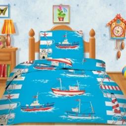 Купить Детский комплект постельного белья Кошки-Мышки «Морской»