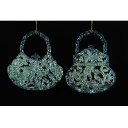 фото Елочное украшение Crystal Deco «Сумочка» 1707677. В ассортименте