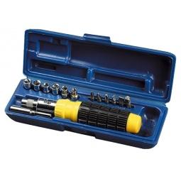 Купить Отвертка реверсивная с набором бит и торцевых головок Stayer 2554-H14