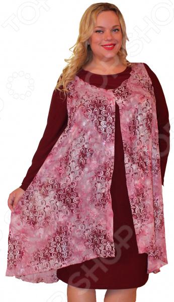 Платье Klimini «Антуана»Повседневные платья<br>Платье Klimini Антуана это стильное платье, которое поможет вам создавать невероятные образы, всегда оставаясь женственной и утонченной. Благодаря прямому силуэту оно скрывает проблемные зоны и зрительно делает фигуру более стройной. В этом платье вы будете чувствовать себя блистательно как на работе, так и на вечерней прогулке по городу.  Втачные, длинные рукава.  Швы обработаны текстурированными, эластичными нитями, Благодаря чему швы тянутся и не натирают.  Интеллигентная длина, закрывающая колено. Платье сделано из эластичного трикотажа с шифоновой накидкой 96 полиэстер, 4 эластан . Платье сохраняет форму после стирки и не линяет. Желательна стирка при температуре 30-40 градусов без предварительного замачивания.<br>