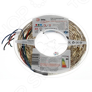 Лента светодиодная Эра LS5050-60LED-IP65-RGB-eco-3m