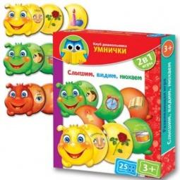 Купить Игра настольная обучающая Vladi Toys «Слышим, видим, нюхаем»