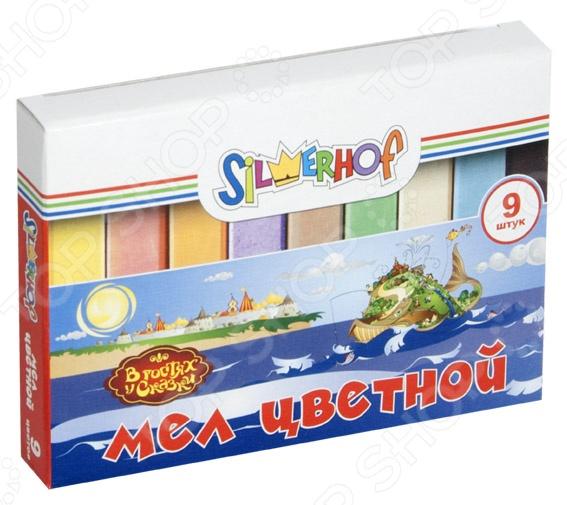 Набор мелков школьных цветных Silwerhof «В гостях у сказки»