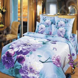 Комплект постельного белья DIANA P&amp;amp;W «Сиреневые цветы». СемейныйСемейные<br>Комплект постельного белья DIANA P W Сиреневые цветы белье для создания уютной обстановки и украшения спальной комнаты. Приятная цветопередача белья гарантирует, что атмосфера вашей спальни наполнится теплотой и уютом, а вы испытаете множество сладких мгновений спокойного сна. Дизайн белья великолепно подойдет для спальни в классическом стиле, добавит в интерьер аристократическую легкость и элегантность. Оформлено красочными и объемными рисунками, нанесенные на ткань методом реактивной печати. Белье сделано из нитей прочной микрофибры синтетического материала близкого по мягкости к хлопку. Нити этого материала состоят из 50 до 150 микроволокон переплетенных между собой. Материал довольно мягок и приятен на ощупь. Низкие показатели скатывания, линяния и бытового трения делают белье более износостойким. Особенности материала:  Хорошо держит форму: не растягивается, не скатывается, не деформируется и не теряет яркость цвета после стирки;  Устойчиво к загрязнениям;  Обладает охлаждающим эффектом;  Быстро сохнет расположенные между микроволокнами многочисленные поры способны быстро впитывать жидкость, которая впоследствии легко выходит на поверхность и испаряется, за счет ткань быстро сохнет. Микрофибра обладает повышенной гигроскопичностью, поэтому практически не мнется, не растягивается, не садится и не выгорает. Также имеет гипоаллергенные свойства. Белью не страшны всякие загрязнения, в том числе грибок и поедание молью. Ворсинки микрофибры равномерно распределяют статическое электричество. Обладает высокой воздухопроницаемостью и хорошим охлаждающим эффектом.<br>
