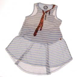 фото Платье детское в полоску с аппликацией Mini Shatsu Miss Independent