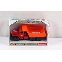 фото Машина инерционная со светозвуковыми эффектами PlaySmart «Автопарк. Самосвал». Цвет: оранжевый