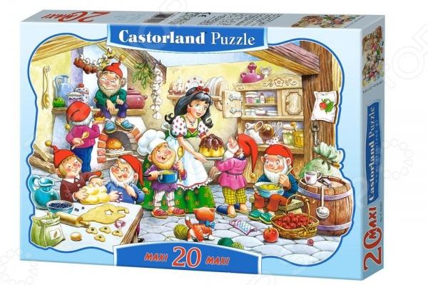 Пазл 20 элементов Castorland «Белоснежка» пазл 30 элементов midi castorland строим дом