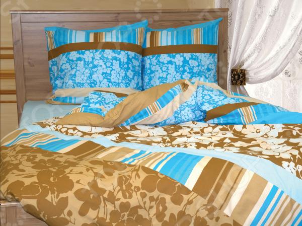 Комплект постельного белья Tete-a-Tete «Chocolate». 1,5-спальный1,5-спальные<br>Комплект постельного белья Tete-a-Tete Chocolate . 1,5-спальный станет отличной покупкой и подарит комфорт во время сна. Все элементы комплекта сшиты из натурального хлопка, который приятен на ощупь и не вызывает раздражения кожи. Все изображения, имеющиеся на постельном белье, нанесены при помощи устойчивого красителя, который не вызывает аллергических реакций. Мягкая и нежная ткань отличается хорошей воздухопроницаемостью, поддерживая комфортный уровень влажности во время сна. Хлопок экологически чистый материал, который издревле используется для изготовления одежды, постельного белья и многого другого. Согласно древним индийским писаниям, волокна хлопка использовались для шитья подушек богов, а сон на них приносит спокойствие и умиротворение. Яркие цвета и затейливый узор полотна будет радовать вас своей насыщенностью и добавят в повседневную жизнь немного красок.<br>