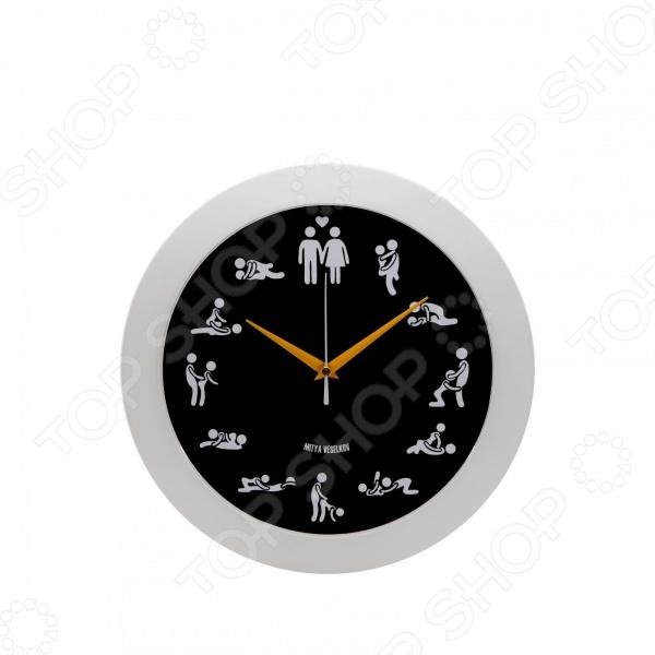 Часы настенные Mitya Veselkov «Камасутра»Часы настенные<br>Настенные часы это элегантный и неотъемлемый элемент дизайна любого помещения. Правильно подобранные часы позволяют внести в общий интерьерный ансамбль некоторую изюминку и легкий штрих индивидуальности, собственного стиля. Поэтому к подбору такого значимого и функционального украшения надо подходить с умом. Настенные часы от отечественного бренда Mitya Veselkov станут настоящей находкой для тех, кто следит за трендами современной моды, любит постоянные перемены и предпочитает новаторские решения взамен обыденной классике. Часы настенные Mitya Veselkov Камасутра отлично впишутся в интерьер вашей спальни. Корпус кварцевых часов выполнен из качественного пластика, который гарантирует не только их легкость, но и практичность, легкий монтаж и уход. Циферблат данной модели отличается оригинальным дизайном, который придется по душе поклонникам современного искусства.<br>